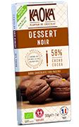 tablette dessert patissier chocolat noir bio equitable