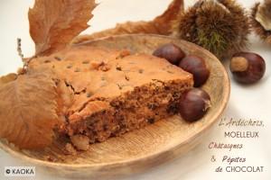 Ardéchois moelleux chataignes pepites chocolat bio KAOKA