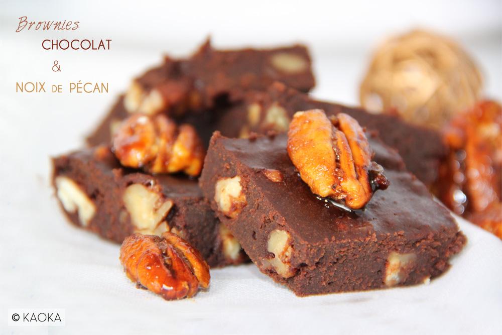 Recette brownies chocolat bio noix de pecan KAOKA