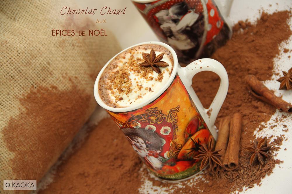recette Chocolat chaud épices noel cacao bio KAOKA