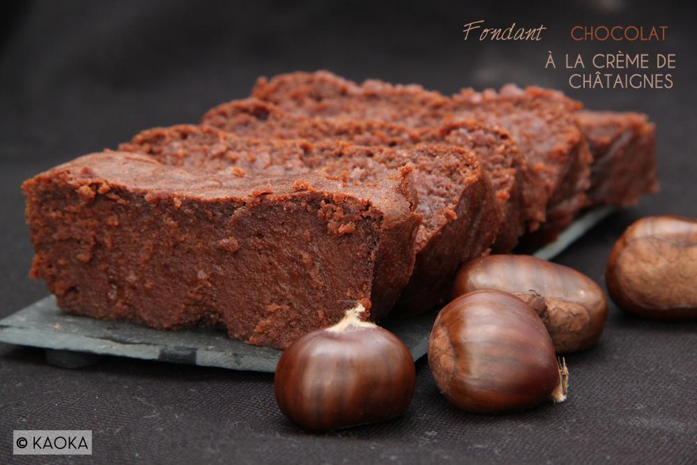Fondant Chocolat à la Crème de Châtaignes