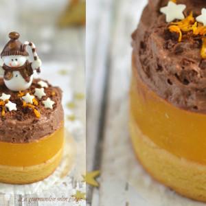 Dessert de Noël farine de lupin, orange & chocolat