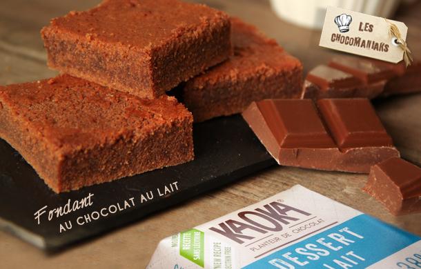 recette gateau fondant chocolat au lait
