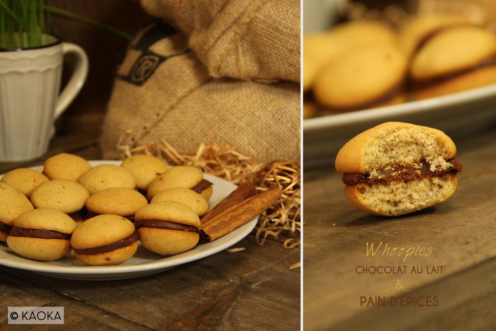 recette whoopies chocolat lait pain epices
