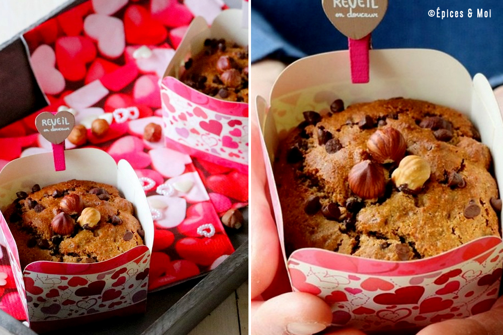recette muffins gingembre noisettes chocolat
