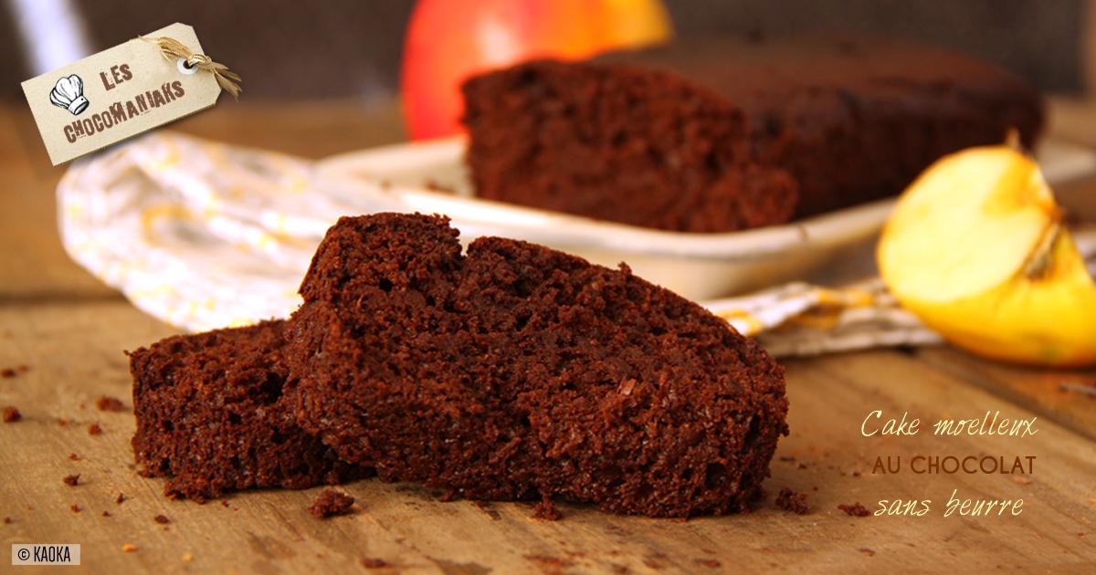 Cake Moelleux au Chocolat sans beurre - Les Chocomaniaks
