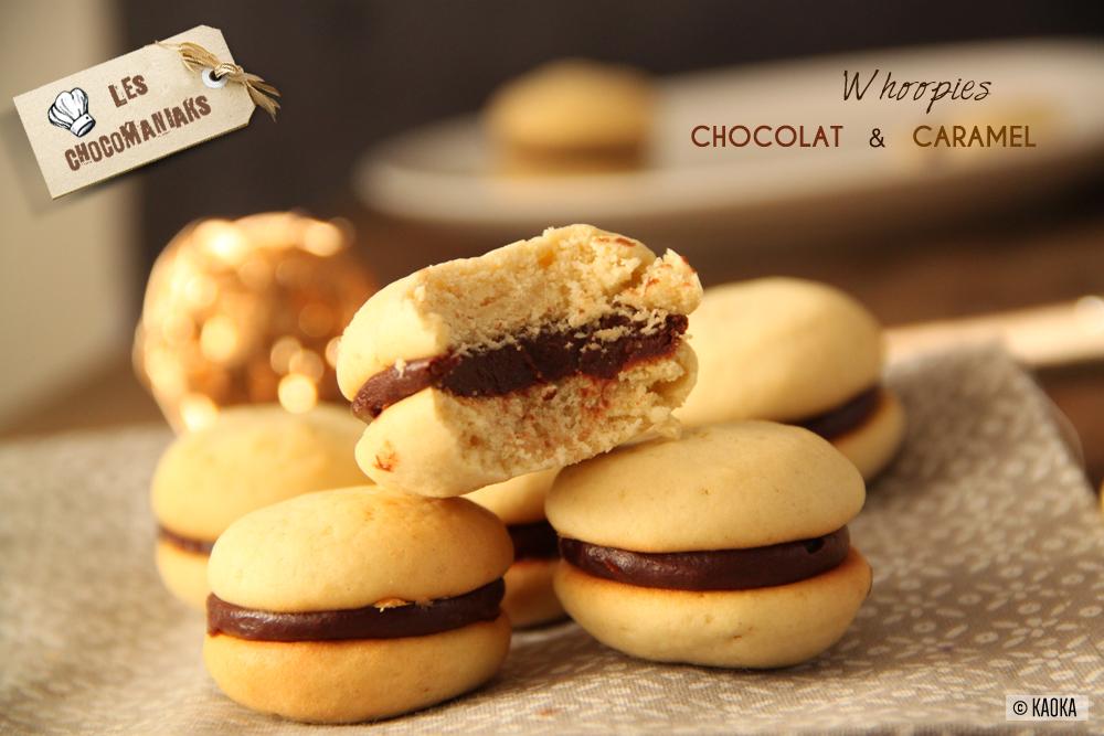 recette whoopies chocolat caramel