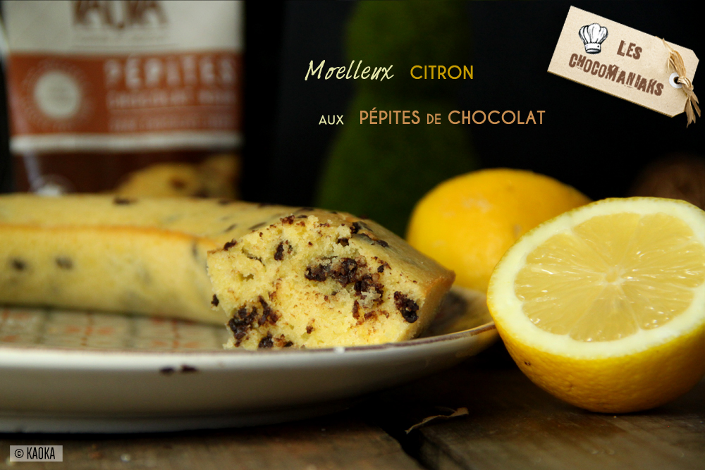 recette moelleux fondant citron pepites chocolat