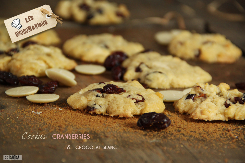recette cookies cranberries chocolat blanc