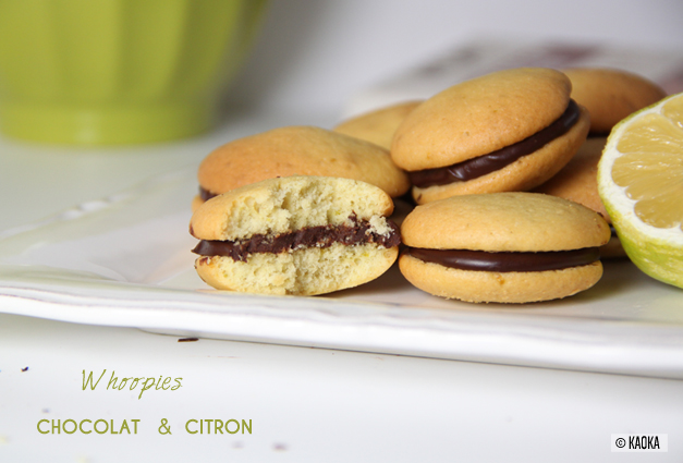 recette whoopies chocolat citron