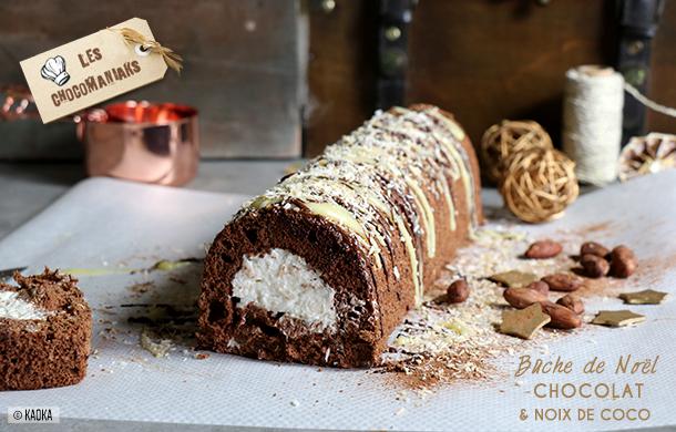 recette buche chocolat noix coco