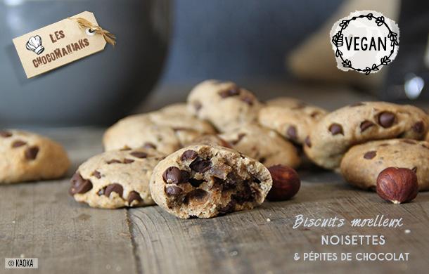 biscuits vegan noisettes pepites chocolat