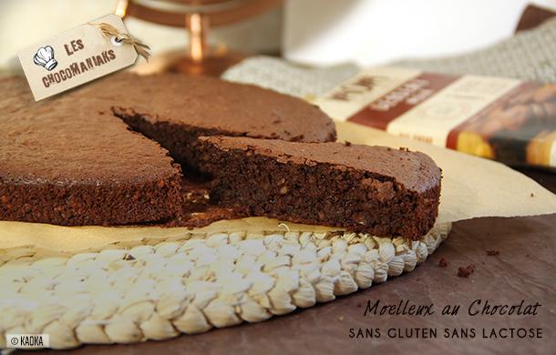 recette moelleux chocolat sans gluten sans lactose