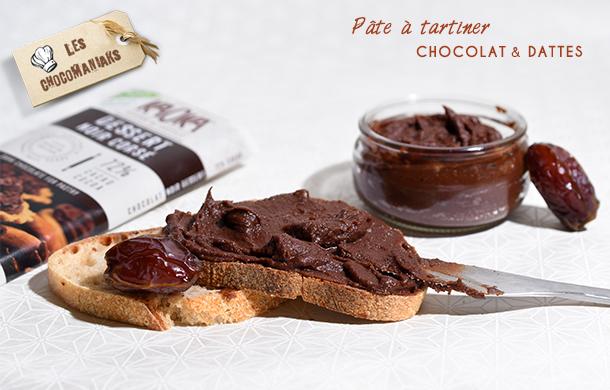 recette pate tartiner chocolat dattes vegan