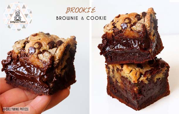 Recette de Brookie : Brownie & Cookie