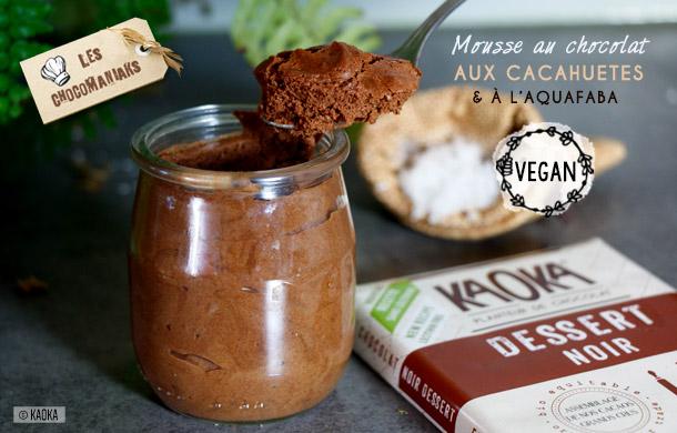 Mousse Chocolat Cacahuètes à l'Aquafaba - Recette Vegan