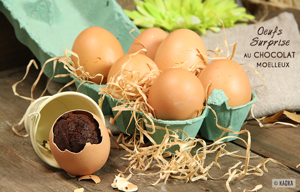 recette oeuf surprise paques chocolat moelleux