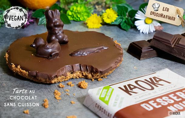 recette tarte chocolat sans cuisson vegan