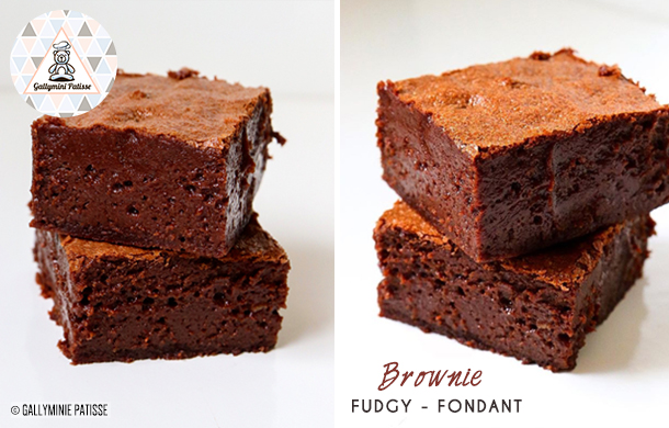 Recette de Brownie Fudgy ultra fondant par Gallymini