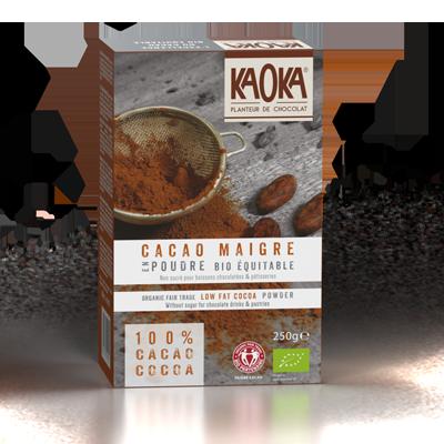cacao maigre poudre bio equitable KAOKA