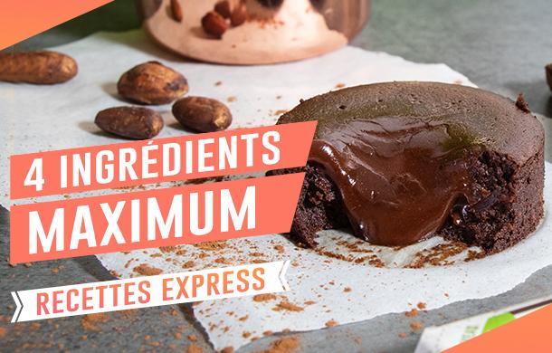 Sélection de recettes faciles et express à réaliser avec 4 ingrédients maximum