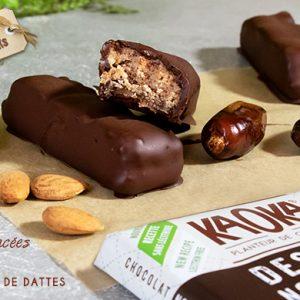recette barre chocolat amandes caramel dattes