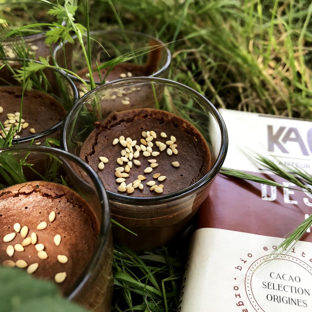 Recette de Mousse au Chocolat & Sésame à l'Aquafaba [vegan]