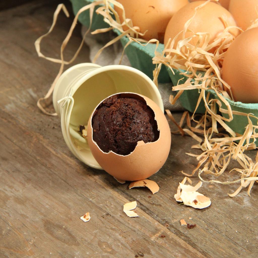 Recette d'oeufs surprise au chocolat moelleux