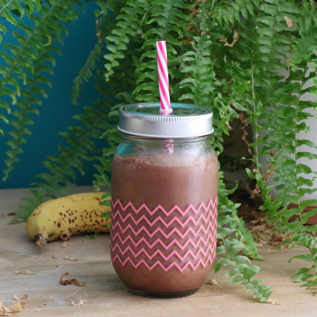 Recette de Smoothie vegan Banane, Coco & Cacao