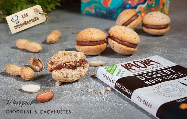 recette whoopies chocolat cacahuetes
