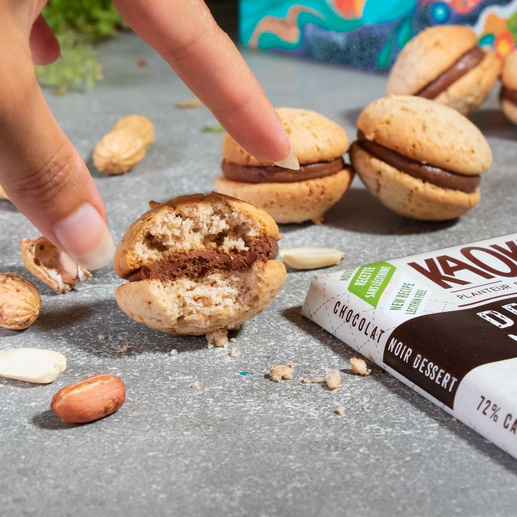 Recette de Whoopies Chocolat & Cacahuètes