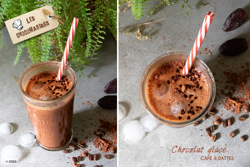 chocolat glace boisson fraiche cacao dattes café