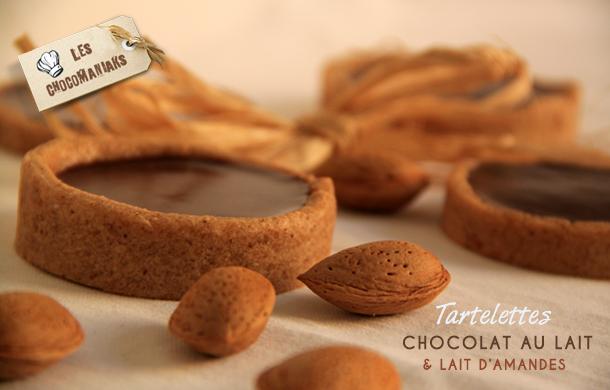 Recette de tartelettes Chocolat au lait et lait d'amandes