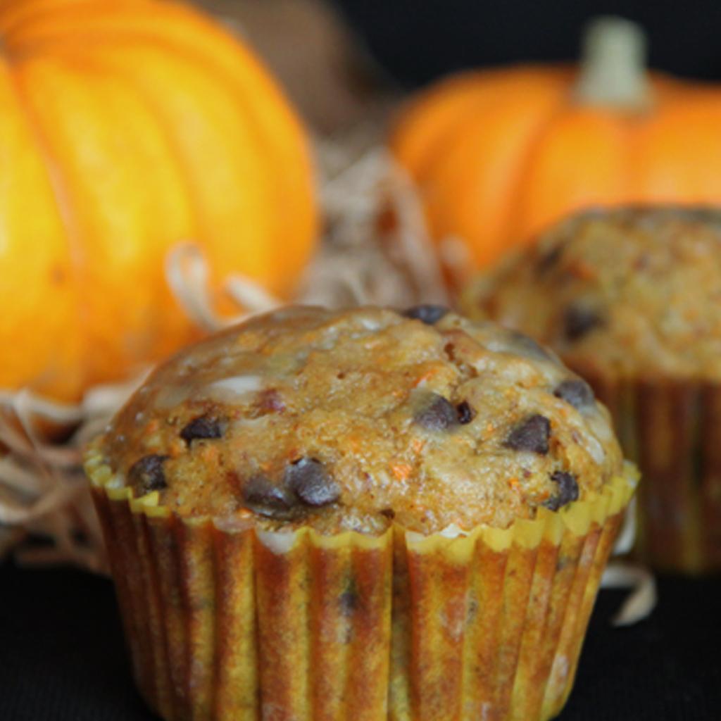 Recette de muffins carotte orange et pépites