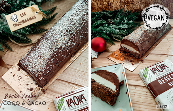 Bûche Vegan Coco & Cacao