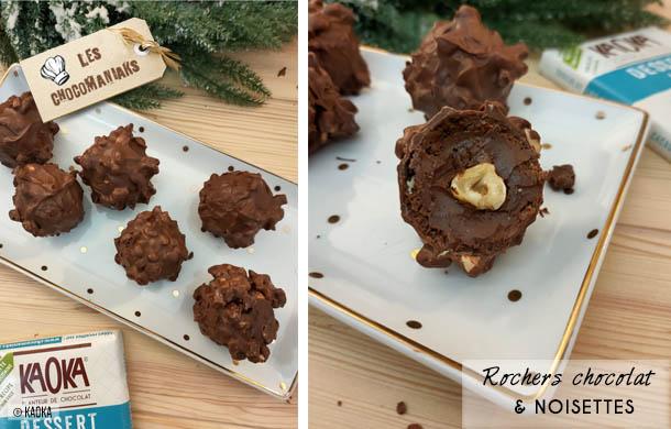 Recette de rochers chocolat noisettes