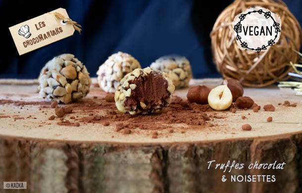 Recette de truffes chocolat noisettes