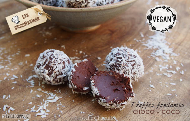 Truffes Fondantes Chocolat Coco